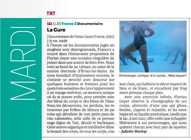 article telerama documentaire la cure